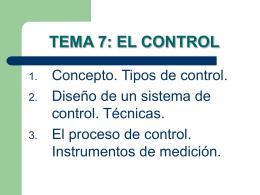 TEMA 7: EL CONTROL