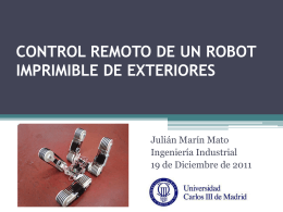 CONTROL REMOTO DE UN ROBOT IMPRIMIBLE DE …
