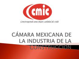 CAMARA MEXICANA DE LA INDUSTRIA DE LA …