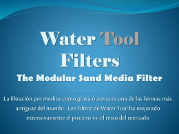 Water Tool Filters The Modular Sand Media Filter