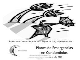 Planes de Emergencias en Condominios