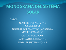 MONOGRAFIA DEL SISTEMA SOLAR - esptec55