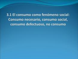Consumo necesario y no consumo