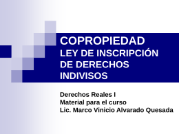 Diapositiva 1 - Derechos Reales II