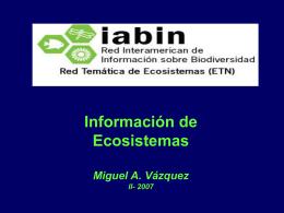 IABIN: Ecosistemas