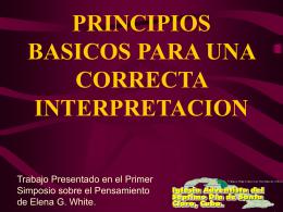 PRINCIPIOS BASICOS PARA UNA CORRECTA …