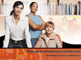 MODELOS DE APRENDIZAJE COOPERATIVO