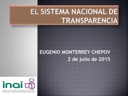 Retos del Sistema Nacional de Transparencia