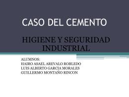 CASO DEL CEMENTO