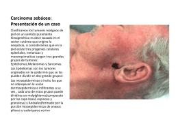 Carcinoma sebaceo: Presentacion de un caso
