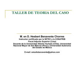 LA TEORIA DEL CASO - Escuela Judicial del Estado de …
