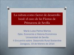 La cultura como factor de desarrollo local: el caso de las