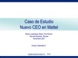 Caso de Estudio Nuevo CEO en Mattel