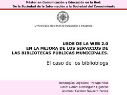 USOS DE LA WEB 2.0 EN LA MEJORA DE LOS SERVICIOS …