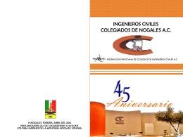 Diapositiva 1 - Ingenieros Civiles Colegiados de Nogales A.C