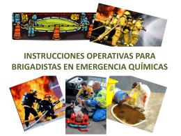 INSTRUCCIONES OPERATIVAS PARA BRIGADISTAS EN …