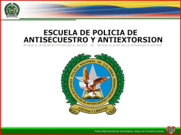 CURSO INTERNACIONAL ANTISECUESTRO ANTIEXTORSION
