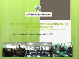 DIRECCION REGIONAL DE EDUCACION No. 10, DE SANTO …