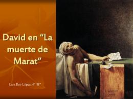 "David en ""La muerte de Marat"""