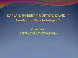 """KAPLAN, ROBERT Y NORTON, DAVID. """" Cuadro de Mando …"""