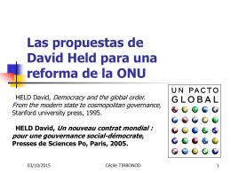 Las propuestas de David Held para una reforma de la ONU