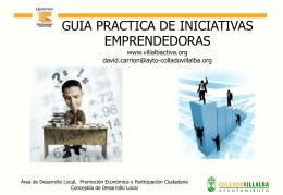 GUIA PRACTICA DE INICIATIVAS EMPRENDEDORAS www