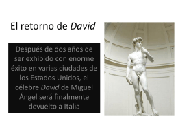 El retorno de David