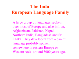 European Language Groups - linguae