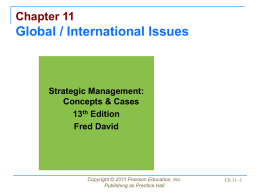 Chapter 11 Global / International Issues