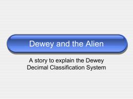 Dewey and the Alien - Council Rock School District