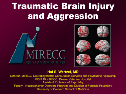 Traumatic Brain Injury and Aggression