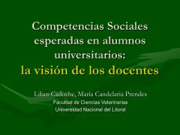 Competencias sociales esperadas en alumnos …