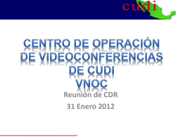 Otras Infraestructuras - CUDI