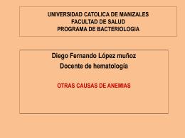 UNIVERSIDAD CATOLICA DE MANIZALES FACULTAD DE …