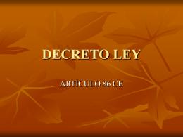 DECRETO LEY - Demos. Plataforma de docencia on line.