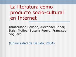 La literatura como producto socio