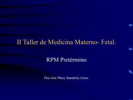 II Taller de Medicina Materno