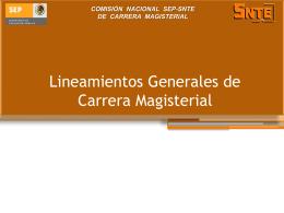 Reforma a los Lineamientos Generales de Carrera Magisterial