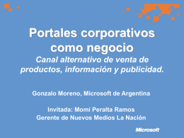 Portales corporativos como negocio: canal alternativo de