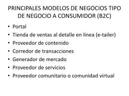 PRINCIPALES MODELOS DE NEGOCIOS TIPO DE …