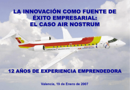 PLAN DE NEGOCIO DE AIR NOSTRUM Formatos …