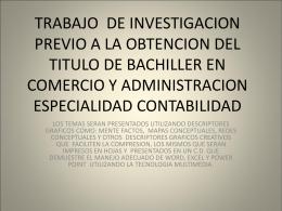 TRABAJO DE INVESTIGACION PREVIO A LA OBTENCION …