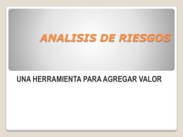 IMPLEMENATACION DE ANALISIS DE RIESGOS/UNA …