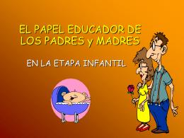 EL PAPEL EDUCADOR DE LOS PADRES