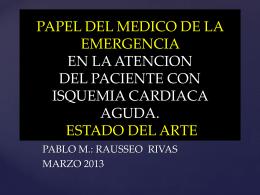 PAPEL DEL MEDICO DE LA EMERGENCIA EN LA …