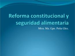 Reforma constitucional y seguridad alimentaria