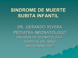 SINDROME DE MUERTE SUBITA INFANTIL