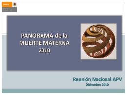1. Panorama de la muerte materna 2010