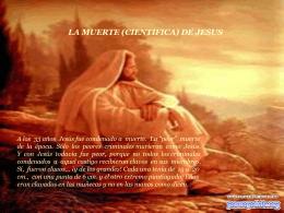 LA MUERTE (CIENTIFICA) DE JESUS
