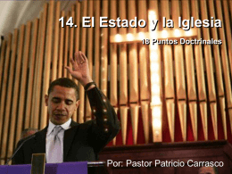 14. El Estado y la Iglesia 18 Puntos Doctrinales